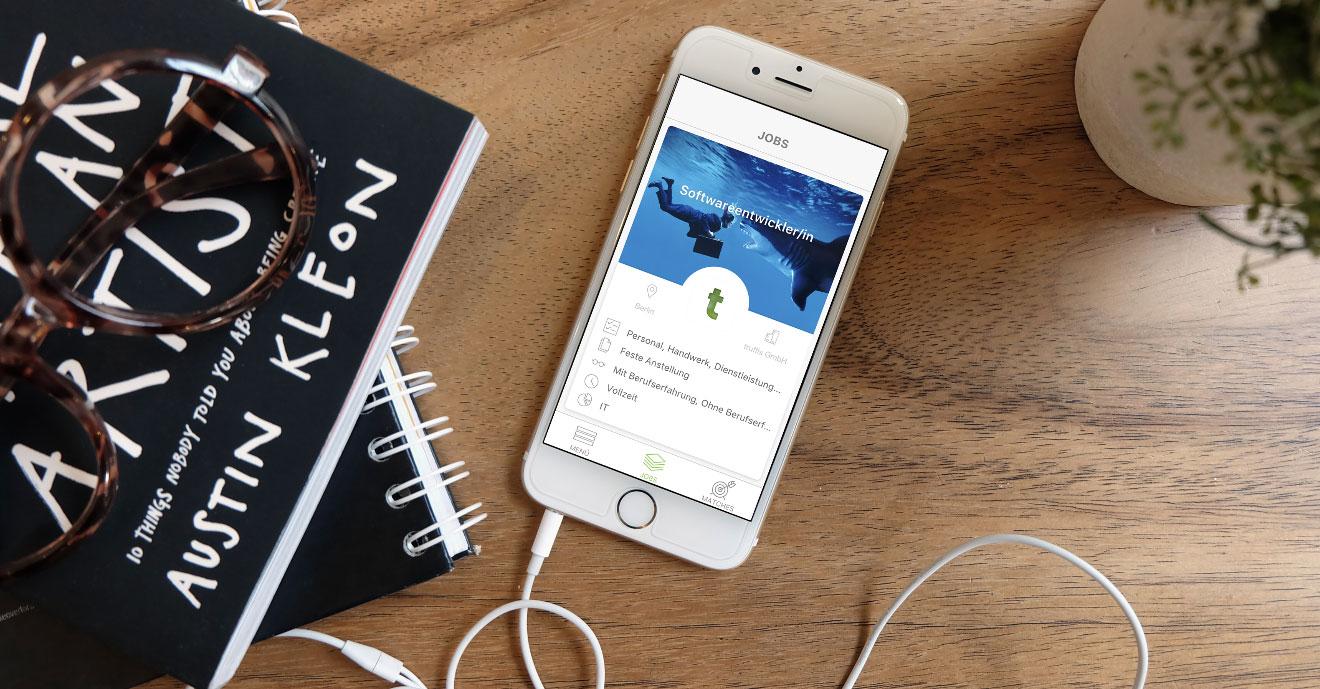 Schnell neuen Job finden mit der truffls App Jobs entdecken